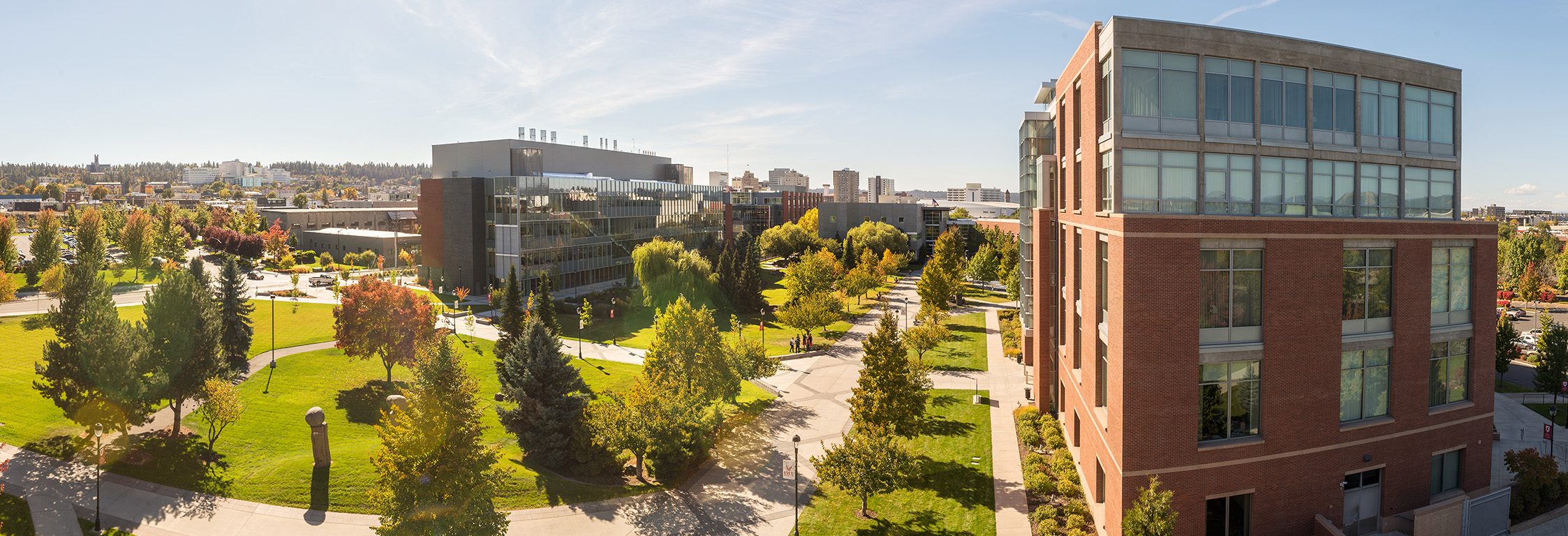 View of buildings at WSU Spokane campus.